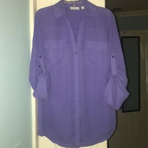 Ny&co blue/purple button down shirt